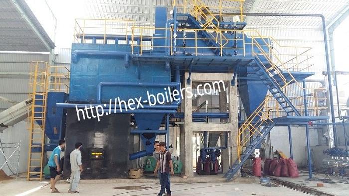 Lò hơi đốt than cám indonesia và biomass
