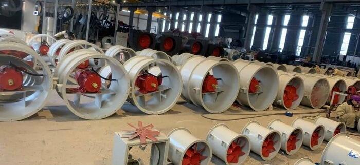 Quạt hướng trục công nghiệp sử dụng hút gió