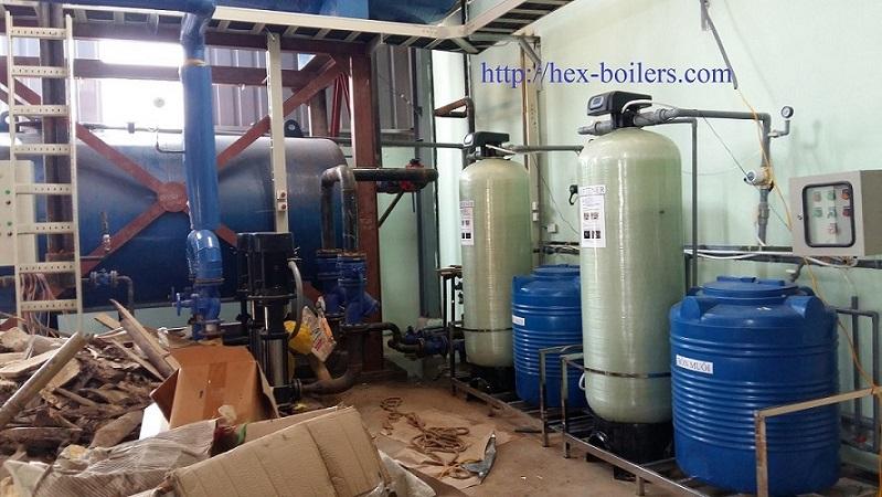 Bồn nước và bộ xử lý nước cấp cho lò hơi